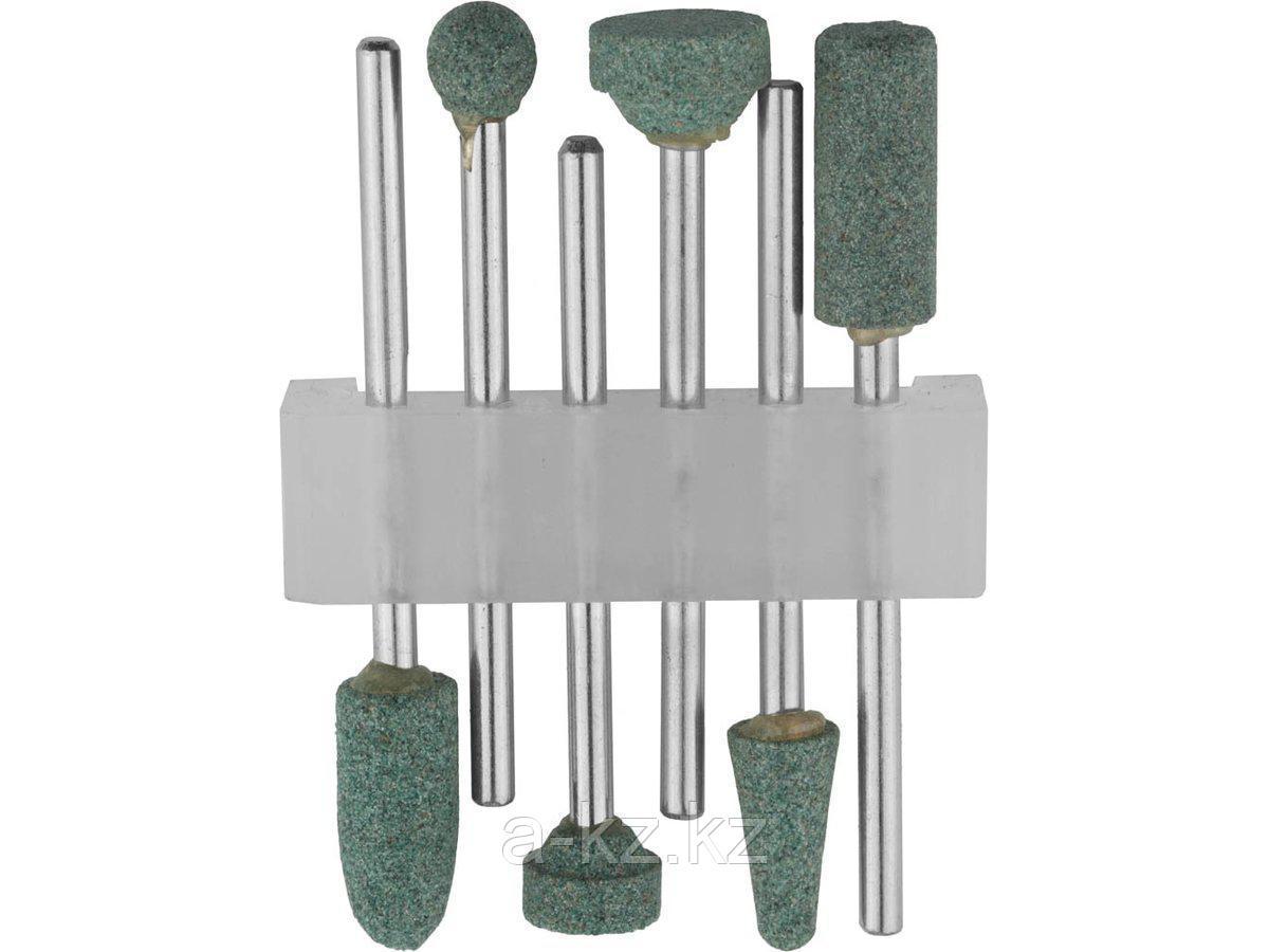 Набор STAYER: Насадки шлифовальные абразивные с оправкой, карбид кремния, 6шт, 29921-H6