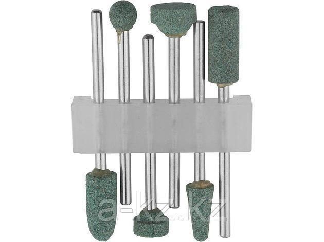 Набор STAYER: Насадки шлифовальные абразивные с оправкой, карбид кремния, 6шт, 29921-H6, фото 2