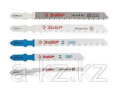 Пилки для электролобзика ЗУБР 15581-H10, ЭКСПЕРТ, по дереву, металлу, цветному металлу, EU-хвостик, пластиковый бокс, 10 шт