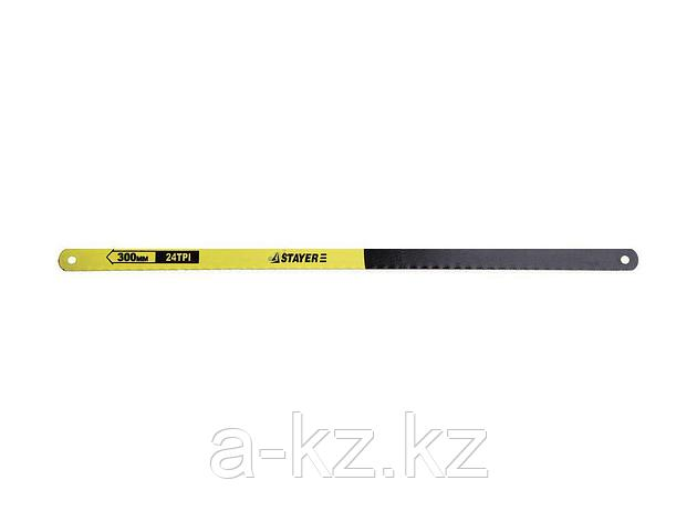 Полотно для ножовки по металлу STAYER 1588-S10, STANDARD, для ножовки, 24 TPI (1 мм), 300 мм, 10 шт., фото 2