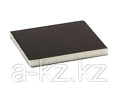 Губка абразивная шлифовальная ЗУБР 35614-180, МАСТЕР, двухсторонняя, мягкий поролон, Р180, 123 х 98 х 12 мм
