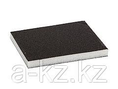 Губка абразивная шлифовальная ЗУБР 35614-080, МАСТЕР, двухсторонняя, мягкий поролон, Р80, 123 х 98 х 12 мм