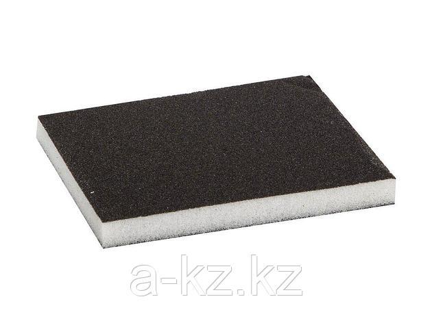 Губка абразивная шлифовальная ЗУБР 35614-080, МАСТЕР, двухсторонняя, мягкий поролон, Р80, 123 х 98 х 12 мм, фото 2