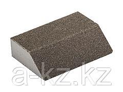Губка абразивная шлифовальная ЗУБР 35613-080, МАСТЕР, четырехсторонняя угловая, средняя жесткость, Р80, 100 х 68 х 42 х 26 мм