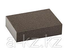 Губка абразивная шлифовальная ЗУБР 35611-120, МАСТЕР, четырехсторонняя, средняя жесткость, Р120, 100 х 68 х 26 мм