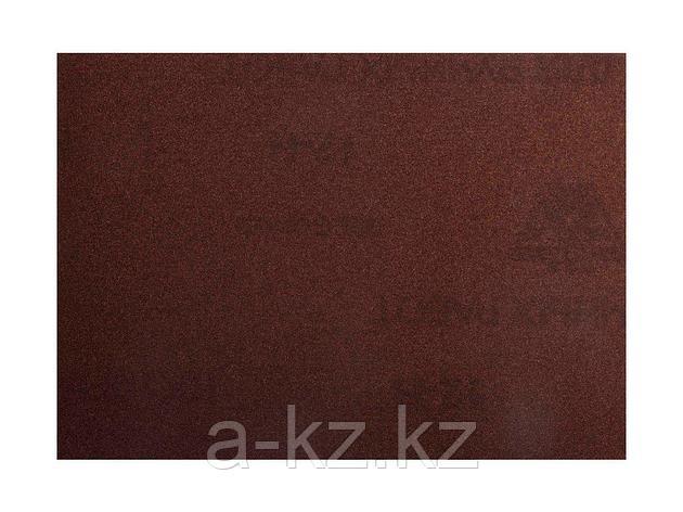 Шкурка шлифовальная 3544-08, водостойкая, на тканной основе, № 8, 17 х 24 см, 10 листов, фото 2