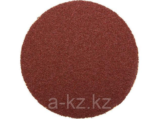 Круг шлифовальный на липучке ЗУБР 35563-125-080, МАСТЕР, универсальный, из абразивной бумаги на велкро основе, без отверстий, Р80, 125 мм, 5 шт., фото 2