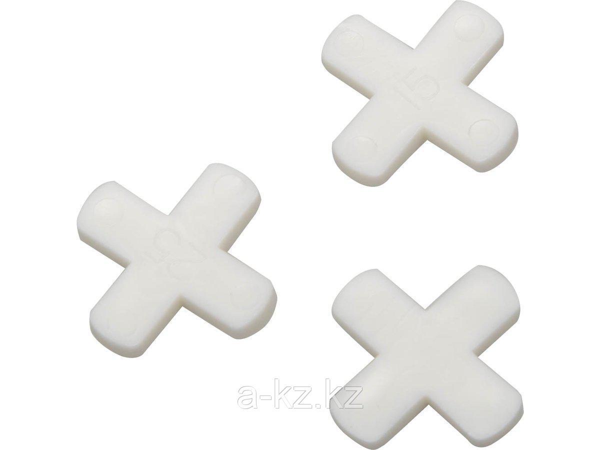 Крестики STAYER для кафеля, 6мм, 75шт, 3380-6