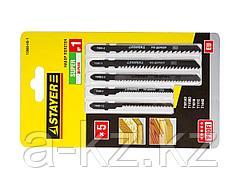 Пилки для электролобзика STAYER 15980-H5-1, PROFI УНИВЕРСАЛ №1, по дереву, EU-хвостик, 5 шт