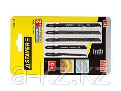 Пилки для электролобзика STAYER 15980-H5-2, PROFI УНИВЕРСАЛ №2, по дереву и металлу, EU-хвостик, 5 шт