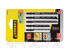 Пилки для электролобзика STAYER 15980-H5-3, PROFI УНИВЕРСАЛ №3, по дереву, металлу и пластику, EU-хвостик, 5 шт