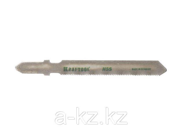 Пилки для электролобзика KRAFTOOL 159551-0,9, HSS, по металлу (0,5-1,5мм), EU-хвостик, шаг 0,9 мм, 55 мм, 2 шт, фото 2