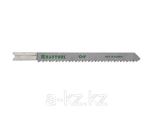 Пилки для электролобзика KRAFTOOL 159611-2,5, Cr-V, по дереву, ДСП, ДВП, чистый рез, US-хвостик, шаг 2,5 мм, 75 мм, 2 шт, фото 2