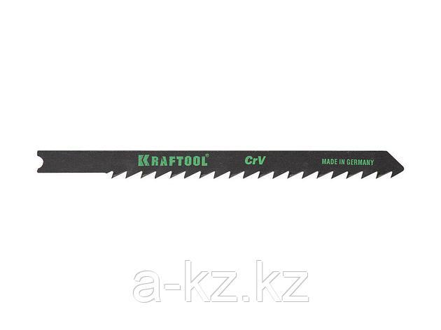 Пилки для электролобзика KRAFTOOL 159621-4, Cr-V, по дереву, ДВП, ДСП, быстрый рез, US-хвостик, шаг 4 мм, 75 мм, 2 шт, фото 2