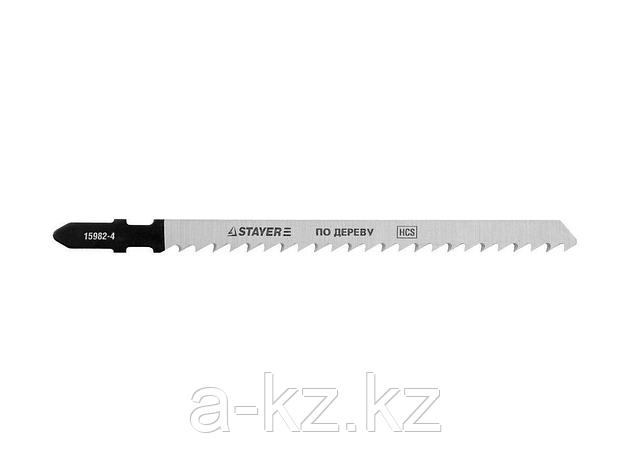 Пилки для электролобзика STAYER 15982-4_z01, PROFI, HCS, по дереву, EU-хвостик, шаг 4 мм, 100 мм, 2 шт, фото 2