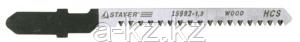 """Пилки STAYER """"PROFI"""" для эл/лобзика, HCS, по дереву, ДСП, ДВП, EU-хвост., шаг 2,5мм, 75мм, 2шт"""