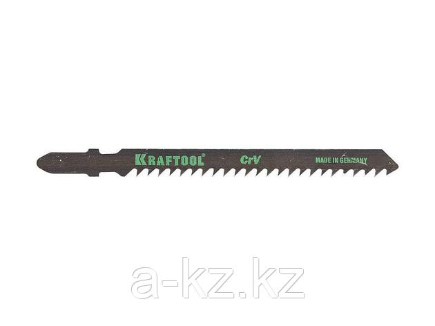 Пилки для электролобзика KRAFTOOL 159531-3, Cr-V, по дереву, ДВП, ДСП, грубый рез, EU-хвостик, шаг 3 мм, 75 мм, 2 шт, фото 2