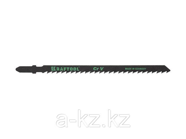Пилки для электролобзика KRAFTOOL 159523-4, Cr-V, по дереву, ДВП, ДСП, фигурный рез, EU-хвостик, шаг 4 мм, 75 мм, 2 шт, фото 2