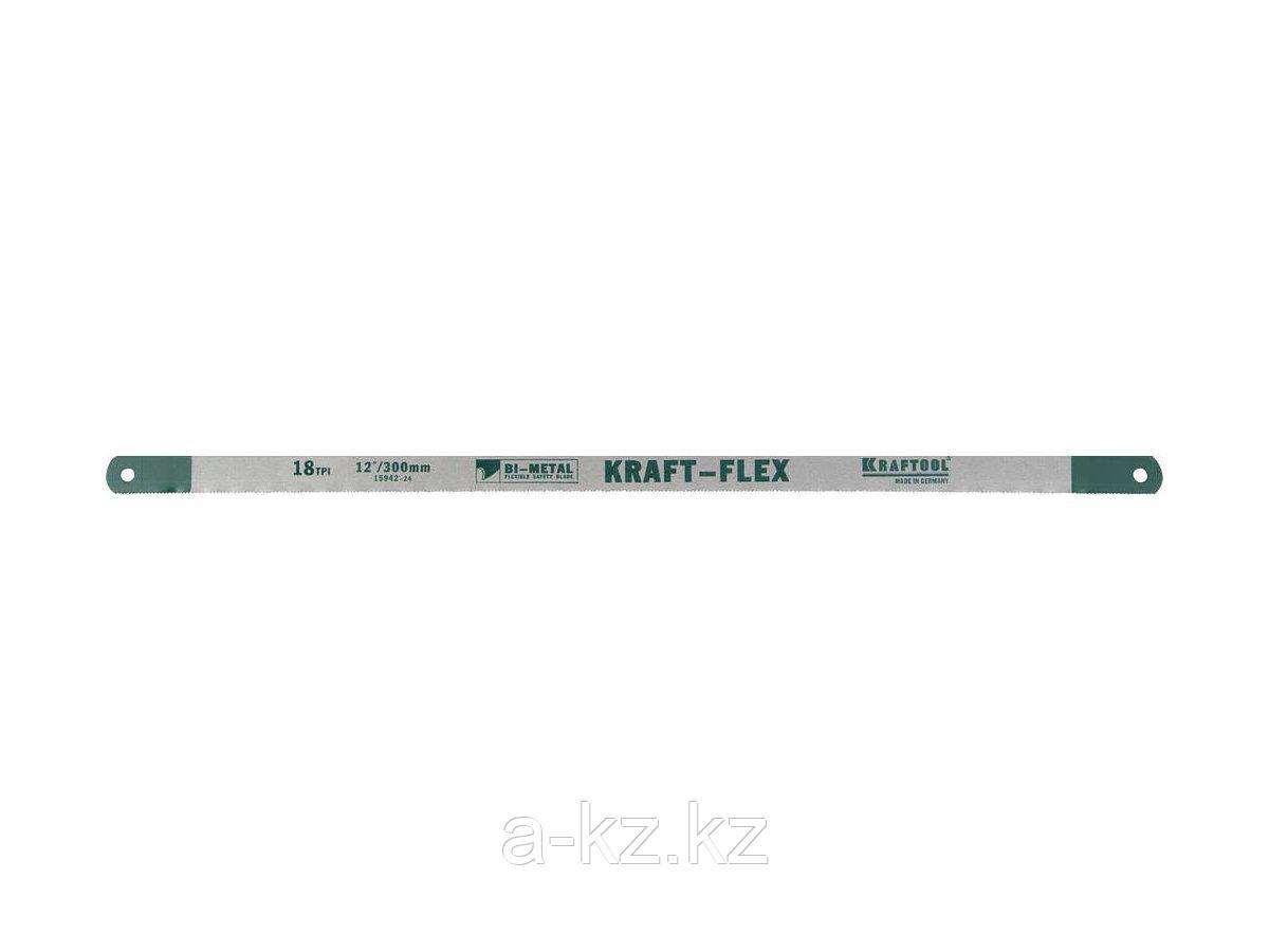 Полотно для ножовки по металлу KRAFTOOL 15942-18-S2, PRO KRAFT-FLEX, Bi-Metal, 18 TPI, 300 мм, 2 шт.