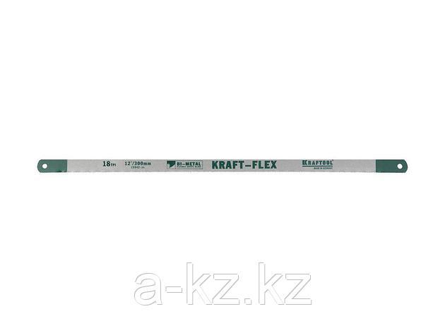 Полотно для ножовки по металлу KRAFTOOL 15942-18-S2, PRO KRAFT-FLEX, Bi-Metal, 18 TPI, 300 мм, 2 шт., фото 2