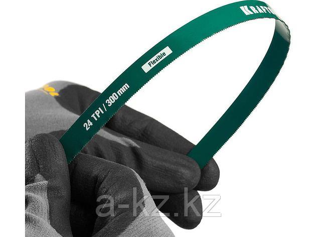 Полотно гибкое Max Flex, KRAFTOOL 15941-24-S2, безопасное, с волнообразной разводкой, 24 TPI, 2шт, 300мм, фото 2