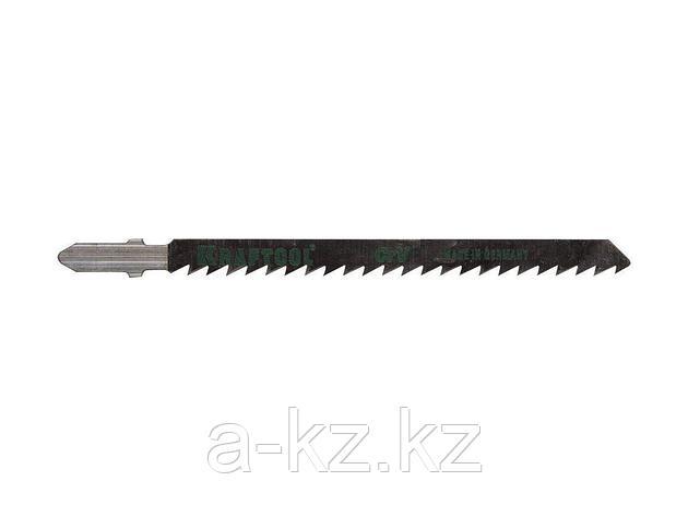 Пилки для электролобзика KRAFTOOL 159511-4, Cr-V, по дереву, ДСП, ДВП, чистый рез, EU-хвостик, шаг 4 мм, 75 мм, 2 шт, фото 2