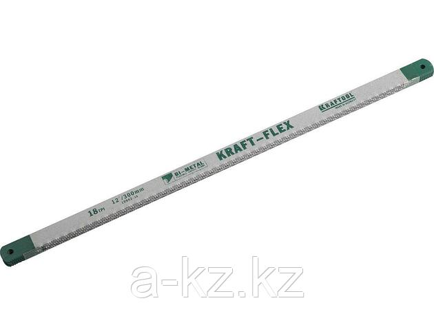 Полотно для ножовки по металлу KRAFTOOL 15942-18-S50, PRO KRAFT-FLEX, Bi-Metal, 18 TPI, 300 мм, 50 шт., фото 2
