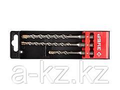 Набор буров SDS Plus по бетону для перфоратора ЗУБР 29314-H3-1, ЭКСПЕРТ, двойная спираль, 5 х 110, 6 х 160, 8 х 160 мм, 3 шт