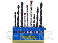 Набор DEXX: Сверла комбинированные, по металлу d=4-6-8мм, по дереву d= 4-6-8мм, по кирпичу d=4-6-8мм, 9 предметов, 2970-H9_z01