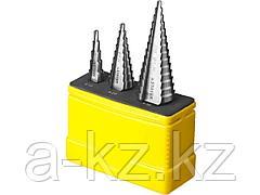 Ступенчатое сверло по металлу набор STAYER 29660-4-30-H3, MASTER, 5 ступенчатое: d 4 - 12 мм, 9 ступенчатое: d 4 - 20 мм, 14 ступенчатое: d 4 - 30 мм