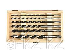 Сверло по дереву спираль Левиса набор ЗУБР 2948-235-H6, ЭКСПЕРТ, 6-8-10-12-14-18мм, 6шт.