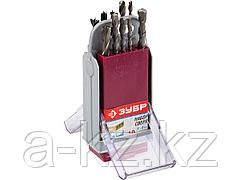 Набор сверл ЗУБР комбинированный: по бетону,металлу, дереву, 10шт в супер боксе, 4-29704-H10-SB
