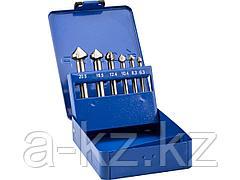 Набор ЗУБР Зенкеры ЭКСПЕРТ конусные с 3-я реж. кромками, сталь P6M5, для раззенковки М3, М4, М5, М6, М8, М10, 29730-H6