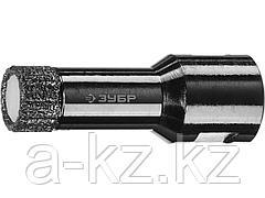 Алмазная коронка для УШМ ЗУБР 29865-16, ПРОФИ, сухое сверление, алмазы на вакуумной пайке, посадка М14, d=16 мм