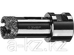 Алмазная коронка для УШМ ЗУБР 29865-20, ПРОФИ, сухое сверление, алмазы на вакуумной пайке, посадка М14, d=20 мм
