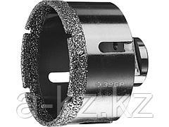 Алмазная коронка для УШМ ЗУБР 29865-73, ПРОФИ, сухое сверление, алмазы на вакуумной пайке, посадка М14, d=73 мм
