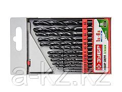 Набор ЗУБР Свёрла МЕТ-ВП по металлу парооксидированных, быстрорежущая сталь, 1,5-6,5мм, 13шт, 4-29605-H13