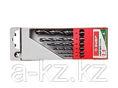 Набор ЗУБР Свёрла МЕТ-ВП по металлу парооксидированных, быстрорежущая сталь, 2, 3, 4, 5, 6, 8мм, 6шт, 4-29605-H6
