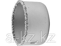 Буровая коронка с твердосплавным напылением ЗУБР 33361-051, ЭКСПЕРТ, с карбид-вольфрамовой крошкой, высота 25 мм, 51 мм