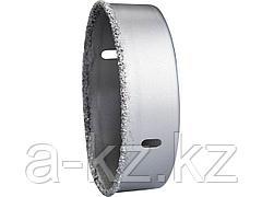 Буровая коронка с твердосплавным напылением ЗУБР 33361-089, ЭКСПЕРТ, с карбид-вольфрамовой крошкой, высота 25 мм, 89 мм