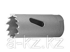 Буровая коронка биметаллическая ЗУБР 29531 022_z01, ЭКСПЕРТ, быстрорежущая сталь, глубина сверления до 38 мм, d 22 мм