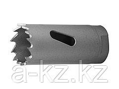 Буровая коронка биметаллическая ЗУБР 29531 019_z01, ЭКСПЕРТ, быстрорежущая сталь, глубина сверления до 38 мм, d 19 мм