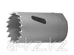 Буровая коронка биметаллическая ЗУБР 29531 029_z01, ЭКСПЕРТ, быстрорежущая сталь, глубина сверления до 38 мм, d 29 мм