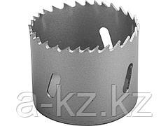 Буровая коронка биметаллическая ЗУБР 29531 054_z01, ЭКСПЕРТ, быстрорежущая сталь, глубина сверления до 38 мм, d 54 мм