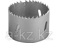 Буровая коронка биметаллическая ЗУБР 29531 057_z01, ЭКСПЕРТ, быстрорежущая сталь, глубина сверления до 38 мм, d 57 мм