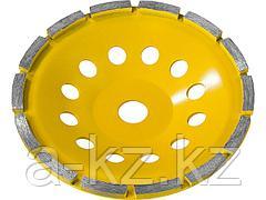 Алмазная шлифовальная чашка по бетону STAYER 33382-180, PROFESSIONAL сегментная однорядная, высота 22,2 мм, 180 мм