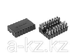 Набор бит для шуруповерта ЗУБР 26046-H33, биты специальные, с магнитным адаптером, хромомолибденовая сталь, 33 предмета