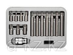 Набор бит для шуруповерта ЗУБР 2651-H15_z01, биты специальные в пластиковом боксе, TORX, 15 предметов