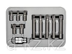 Набор бит для шуруповерта ЗУБР 2652-H11_z01, биты специальные в пластиковом боксе, SPLINE, 11 предметов