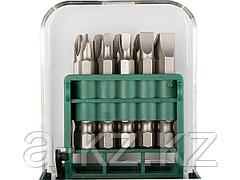 Набор бит для шуруповерта KRAFTOOL 26136-H11, биты в мобильном бит-боксе с клипсой, Cr-V, 50 мм, 11 предметов